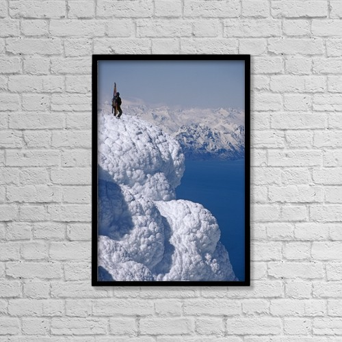 "Printscapes Wall Art: 12"" x 18"" Canvas Print With Black Frame - Scenic by Chris Flowers"