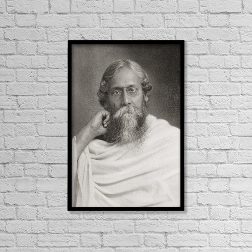 "Printscapes Wall Art: 12"" x 18"" Canvas Print With Black Frame - Rabindranath Tagore, 1861 by Ken Welsh"