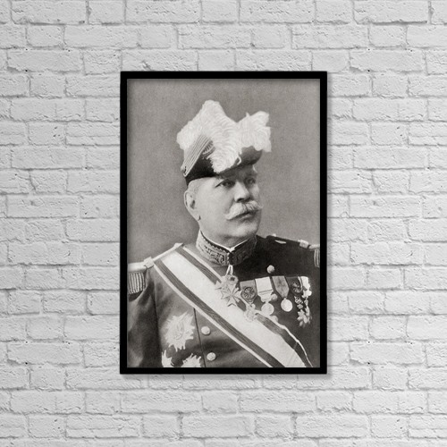"Printscapes Wall Art: 12"" x 18"" Canvas Print With Black Frame - Marshal Joseph Jacques C by Ken Welsh"