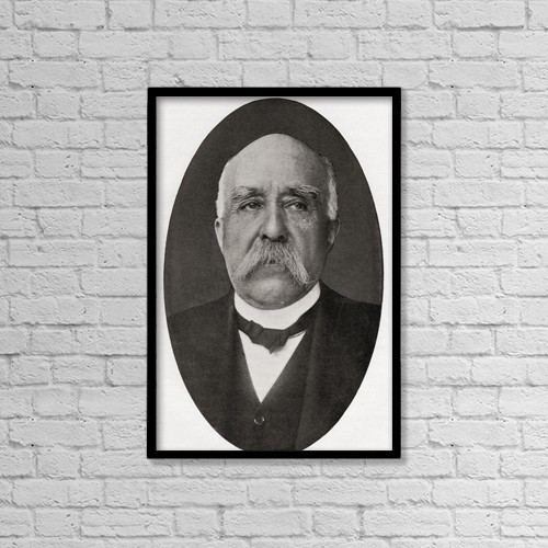 """Printscapes Wall Art: 12"""" x 18"""" Canvas Print With Black Frame - Georges Benjamin Clemenceau, 1841 by Ken Welsh"""