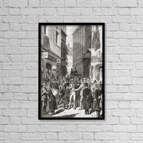 "Printscapes Wall Art: 12"" x 18"" Canvas Print With Black Frame - Travel by Ken Welsh"