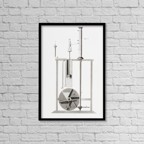 "Printscapes Wall Art: 12"" x 18"" Canvas Print With Black Frame - An Ancient Clepsydra Or Water Clock by Ken Welsh"