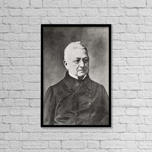 """Printscapes Wall Art: 12"""" x 18"""" Canvas Print With Black Frame - Marie Joseph Louis Adolphe Thiers, 1797 by Ken Welsh"""