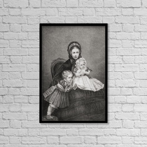 "Printscapes Wall Art: 12"" x 18"" Canvas Print With Black Frame - Victoria, Princess Royal, 1840 - 1901 by Ken Welsh"