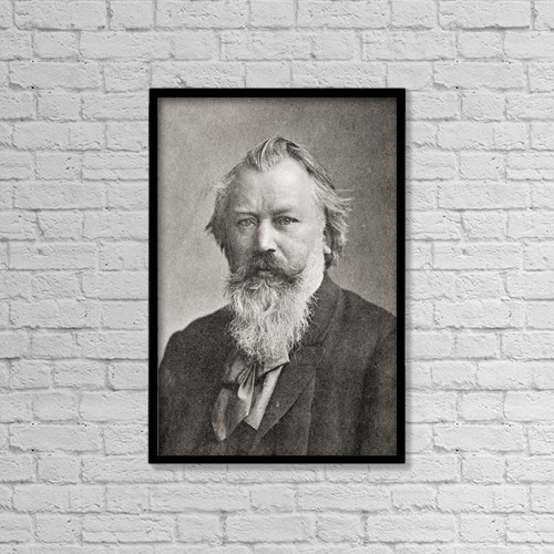 "Printscapes Wall Art: 12"" x 18"" Canvas Print With Black Frame - Johannes Brahms, 1833 by Ken Welsh"