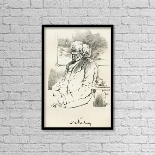 "Printscapes Wall Art: 12"" x 18"" Canvas Print With Black Frame - William Makepeace Thackeray, 1811 by Ken Welsh"