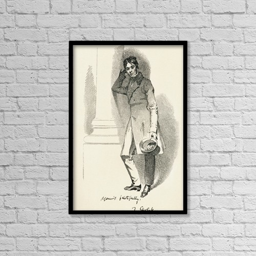 "Printscapes Wall Art: 12"" x 18"" Canvas Print With Black Frame - Thomas Carlyle, 1795 by Ken Welsh"