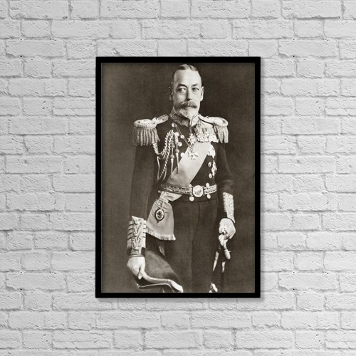 "Printscapes Wall Art: 12"" x 18"" Canvas Print With Black Frame - George V, George Frederick Ernest Albert, 1865 by Ken Welsh"