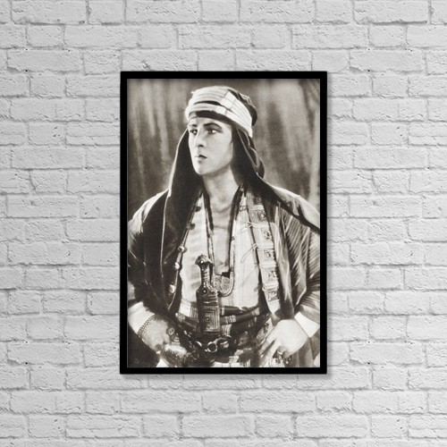 "Printscapes Wall Art: 12"" x 18"" Canvas Print With Black Frame - Rudolph Valentino, 1895 by Ken Welsh"