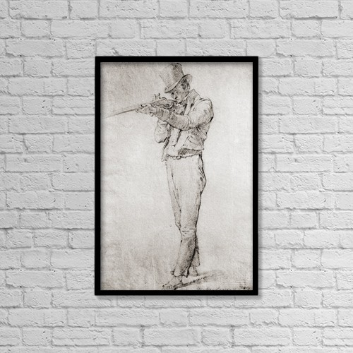 """Printscapes Wall Art: 12"""" x 18"""" Canvas Print With Black Frame - Mateo Garcia by Ken Welsh"""