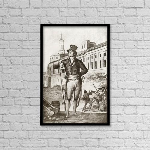"Printscapes Wall Art: 12"" x 18"" Canvas Print With Black Frame - Felipe Sanclemente Y Romeu, 1758 by Ken Welsh"