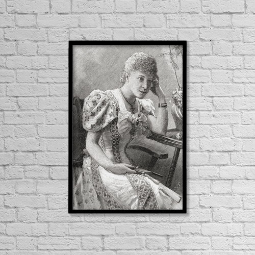 "Printscapes Wall Art: 12"" x 18"" Canvas Print With Black Frame - Natalia Janotha, 1856 by Ken Welsh"
