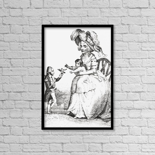 """Printscapes Wall Art: 12"""" x 18"""" Canvas Print With Black Frame - J by Ken Welsh"""