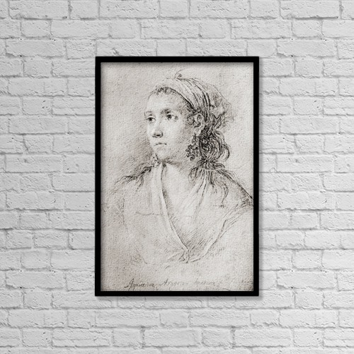 "Printscapes Wall Art: 12"" x 18"" Canvas Print With Black Frame - Agustina Raimunda Mar by Ken Welsh"