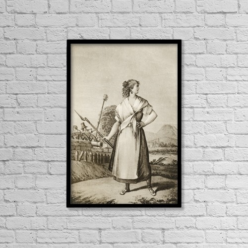 "Printscapes Wall Art: 12"" x 18"" Canvas Print With Black Frame - Casta by Ken Welsh"