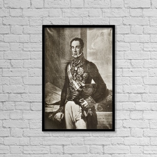 "Printscapes Wall Art: 12"" x 18"" Canvas Print With Black Frame - Don Miguel Ricardo De by Ken Welsh"