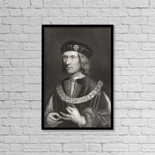 "Printscapes Wall Art: 12"" x 18"" Canvas Print With Black Frame - Richard Iii, 1452 by Ken Welsh"