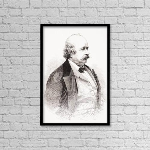"Printscapes Wall Art: 12"" x 18"" Canvas Print With Black Frame - Leonard Sylvain Julien (Jules) Sandeau, 1811 by Ken Welsh"