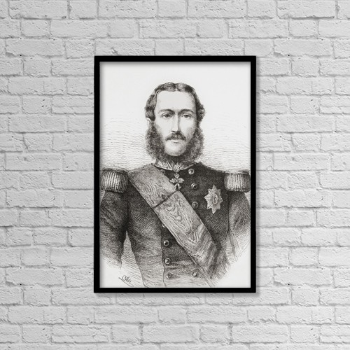 """Printscapes Wall Art: 12"""" x 18"""" Canvas Print With Black Frame - Leopold Ii, 1835 by Ken Welsh"""