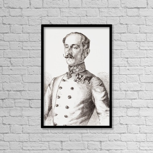 "Printscapes Wall Art: 12"" x 18"" Canvas Print With Black Frame - Ludwig August Ritter Von Benedek, 1804 by Ken Welsh"