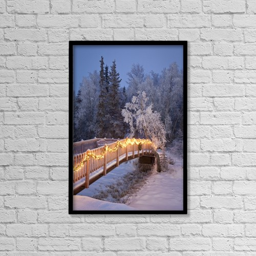 "Printscapes Wall Art: 12"" x 18"" Canvas Print With Black Frame - Nature by Jeff Schultz"