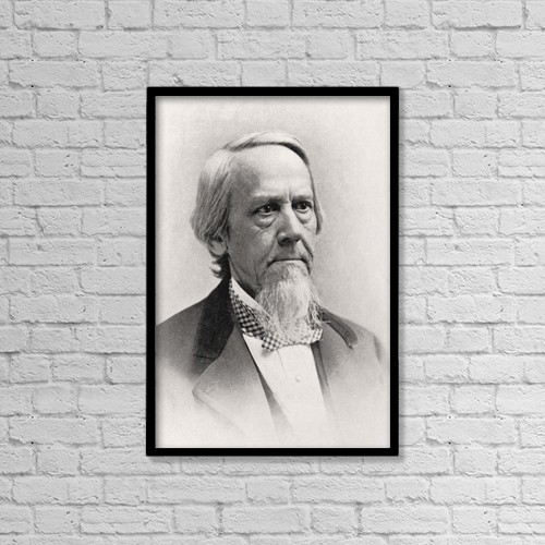 "Printscapes Wall Art: 12"" x 18"" Canvas Print With Black Frame - Elias Loomis, 1811 by Ken Welsh"