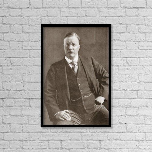 """Printscapes Wall Art: 12"""" x 18"""" Canvas Print With Black Frame - Theodore Teddy Roosevelt, 1858 - 1919 by Ken Welsh"""