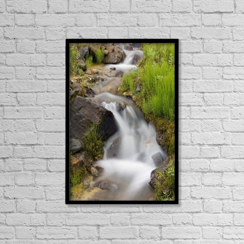 "Printscapes Wall Art: 12"" x 18"" Canvas Print With Black Frame - Architectural Interior by Gary Schultz"