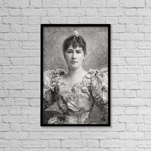 "Printscapes Wall Art: 12"" x 18"" Canvas Print With Black Frame - Dame Marie Tempest, 1864 by Ken Welsh"