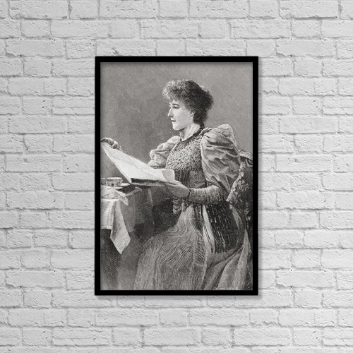 """Printscapes Wall Art: 12"""" x 18"""" Canvas Print With Black Frame - Gertrude Kingston, 1862 by Ken Welsh"""