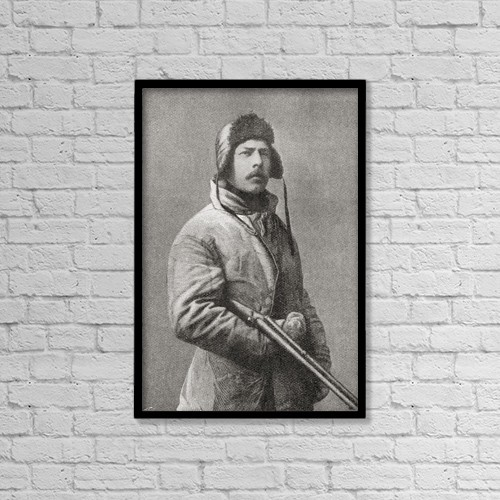 "Printscapes Wall Art: 12"" x 18"" Canvas Print With Black Frame - Carsten Egeberg Borchgrevink, 1864 by Ken Welsh"