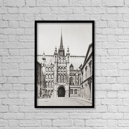 "Printscapes Wall Art: 12"" x 18"" Canvas Print With Black Frame - Architectural Exteriors by Ken Welsh"