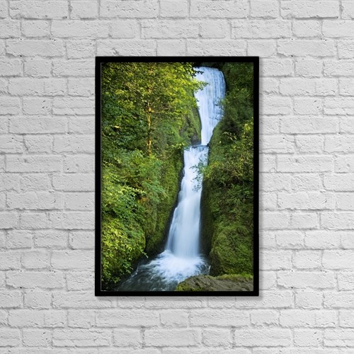 "Printscapes Wall Art: 12"" x 18"" Canvas Print With Black Frame - Waterfall by Philippe Widling"