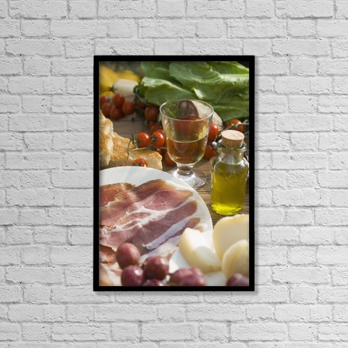 "Printscapes Wall Art: 12"" x 18"" Canvas Print With Black Frame - Food by Ian Cumming"