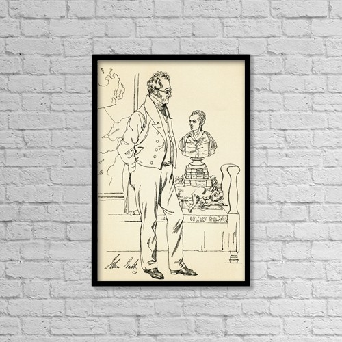 "Printscapes Wall Art: 12"" x 18"" Canvas Print With Black Frame - John Galt, 1779-1839 by Ken Welsh"