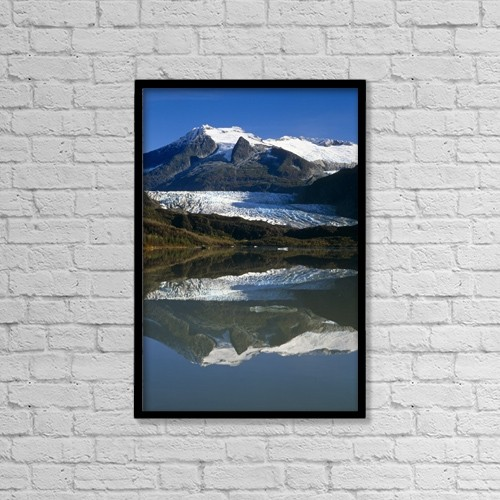 "Printscapes Wall Art: 12"" x 18"" Canvas Print With Black Frame - Scenic by Peter Barrett"