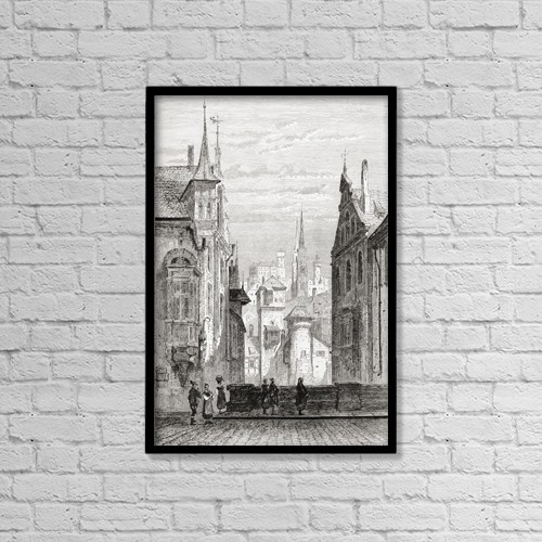 """Printscapes Wall Art: 12"""" x 18"""" Canvas Print With Black Frame - St by Ken Welsh"""