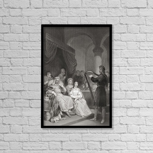 """Printscapes Wall Art: 12"""" x 18"""" Canvas Print With Black Frame - Alfred Before The Danish General by Ken Welsh"""