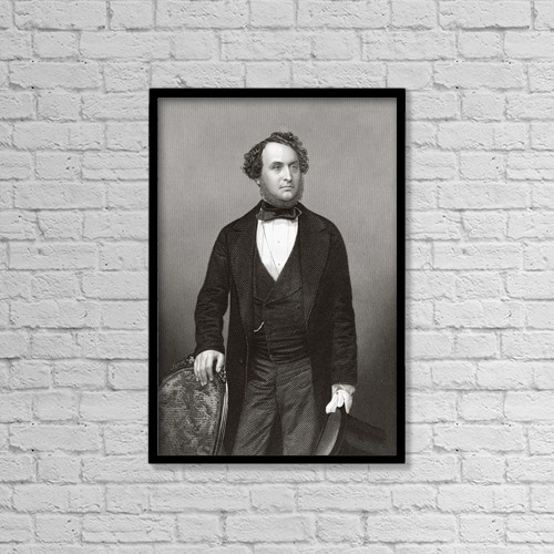 """Printscapes Wall Art: 12"""" x 18"""" Canvas Print With Black Frame - Sir Michael Andrew Angus Costa, 1808 by Ken Welsh"""