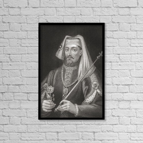 "Printscapes Wall Art: 12"" x 18"" Canvas Print With Black Frame - Henry Iv, 1366 by Ken Welsh"