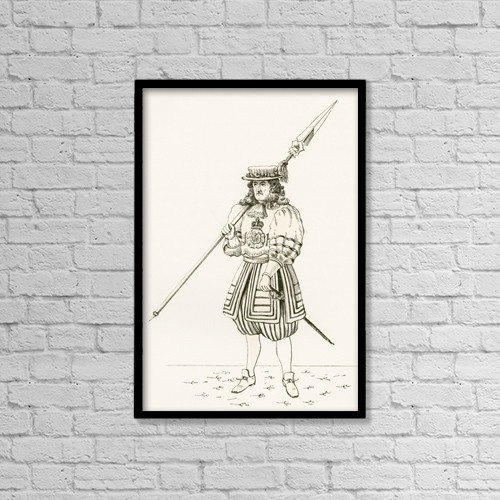 "Printscapes Wall Art: 12"" x 18"" Canvas Print With Black Frame - Yeoman Of The Guard, C by Ken Welsh"