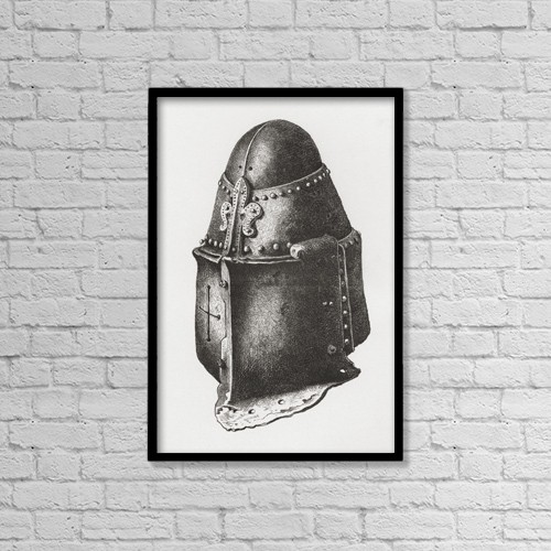 "Printscapes Wall Art: 12"" x 18"" Canvas Print With Black Frame - Helmet C by Ken Welsh"