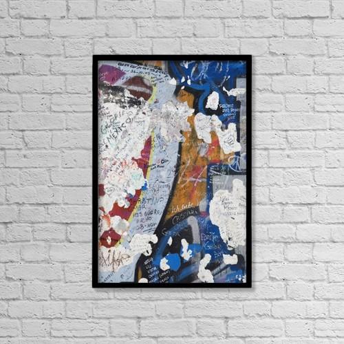 "Printscapes Wall Art: 12"" x 18"" Canvas Print With Black Frame - Germany, Berlin Wall; Berlin by Teresa Arévalo"