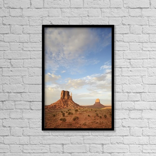 "Printscapes Wall Art: 12"" x 18"" Canvas Print With Black Frame - The Mittens Rock Formation by Peter Carroll"