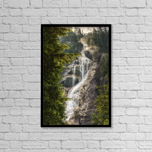 "Printscapes Wall Art: 12"" x 18"" Canvas Print With Black Frame - Scenic Of Shannon Falls by Robert Postma"