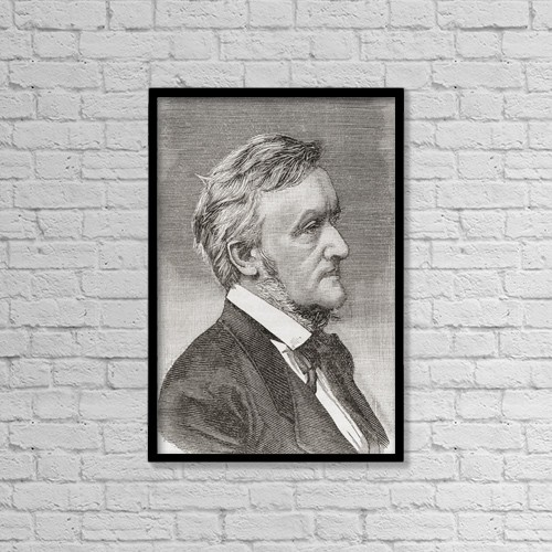 "Printscapes Wall Art: 12"" x 18"" Canvas Print With Black Frame - Wilhelm Richard Wagner, 1813 by Ken Welsh"