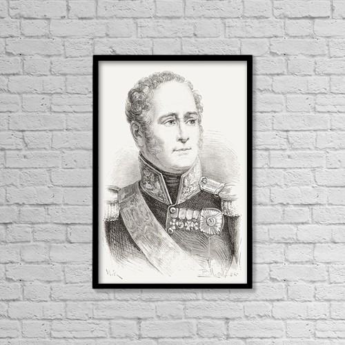 "Printscapes Wall Art: 12"" x 18"" Canvas Print With Black Frame - Alexander I Of Russia, 1777 by Ken Welsh"