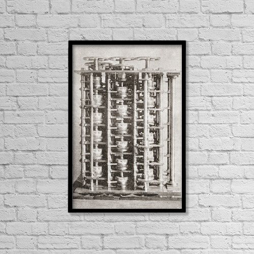 """Printscapes Wall Art: 12"""" x 18"""" Canvas Print With Black Frame - Signs by Ken Welsh"""