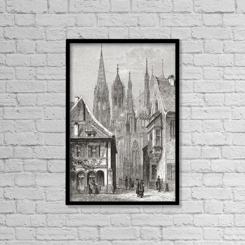 "Printscapes Wall Art: 12"" x 18"" Canvas Print With Black Frame - Freiburg Im Breisgau, Baden-W by Ken Welsh"
