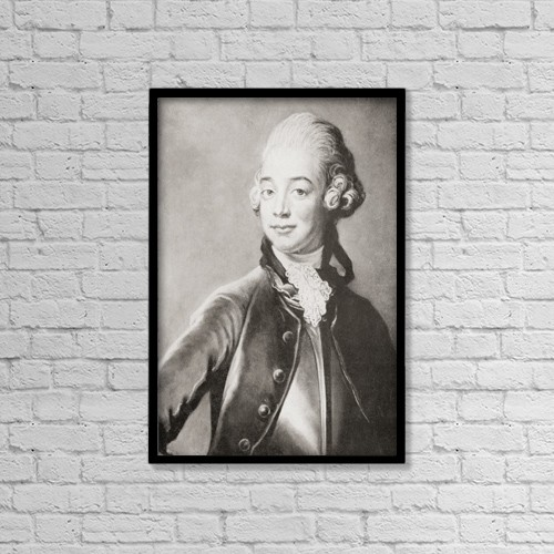 "Printscapes Wall Art: 12"" x 18"" Canvas Print With Black Frame - Count Hans Axel Von Fersen, 1755 by Ken Welsh"